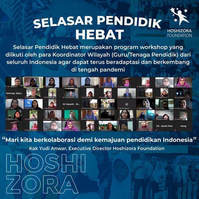 Hoshizora Gandeng Gagas Inspirasi Nusantara Fasilitasi Guru Belajar  Lewat Selasar Pendidik Hebat